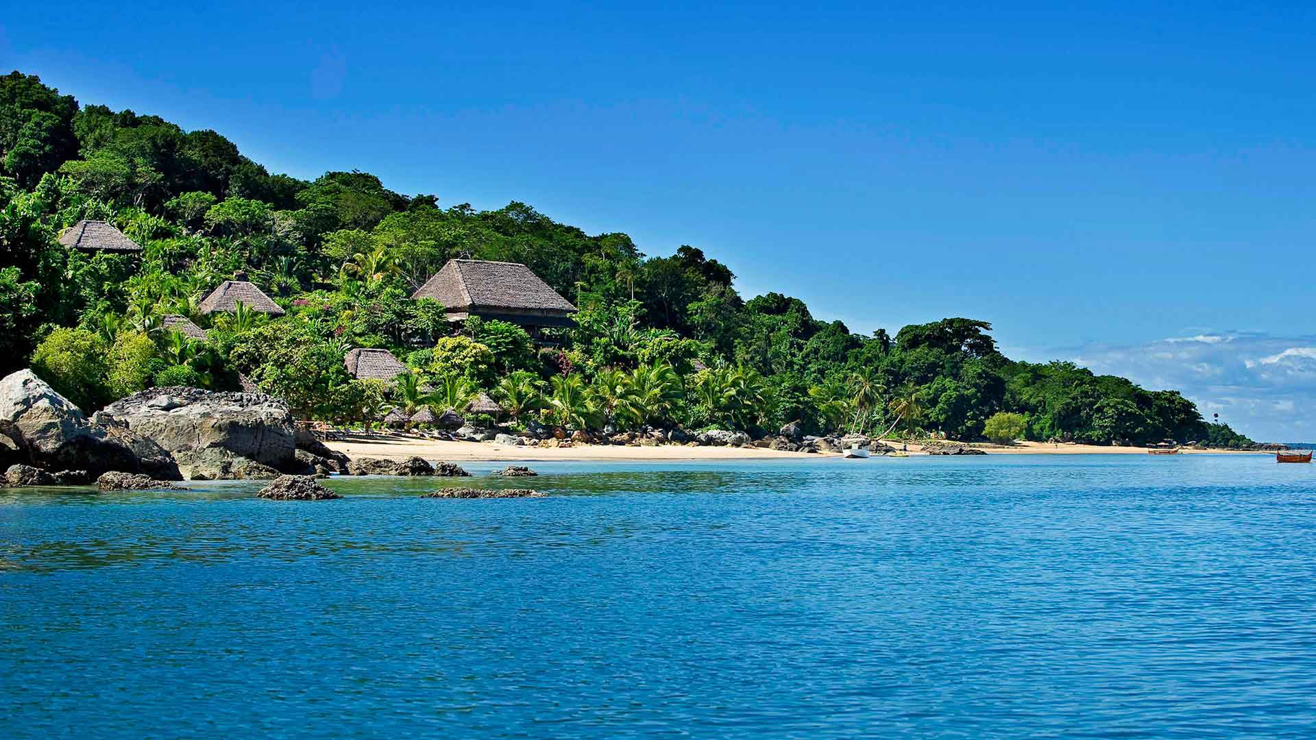 View of Tsara Komba Lodge in Madagascar